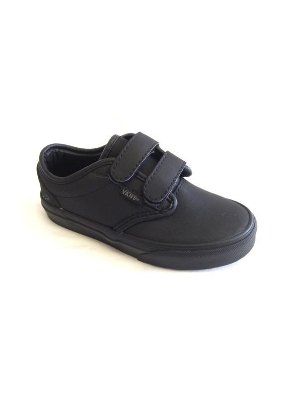 vans atwood black leather velcro