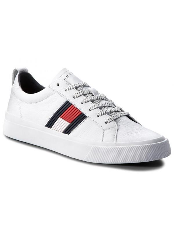 8a18458167e5 Tommy Hilfiger Flag Detail Leather Sneakers - Buy Online from Pettits