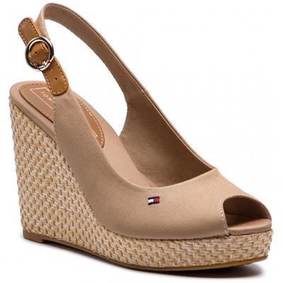 4c29ec61990 Tommy Hilfiger Sandals Iconic Elena Basic Slingback Stone - Buy Online