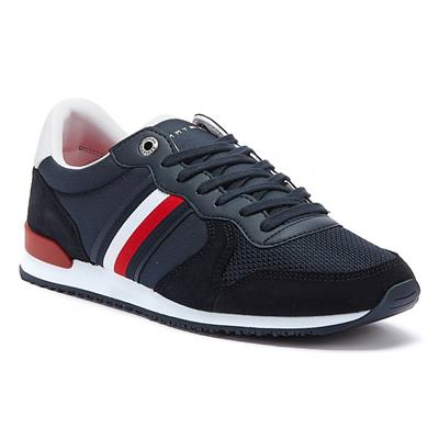 f23e42e4e56d Tommy Hilfiger Sneakers - Iconic Material Mix Runner Navy - Buy Online