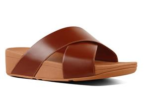 FitFlop Sandals - Lulu™ Cross Slide Caramel