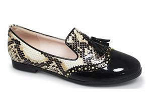 Lunar Shoes - Francine FLC016 Black Snakeskin