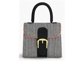 Ruby Shoes Bag - Riva Black Tweed