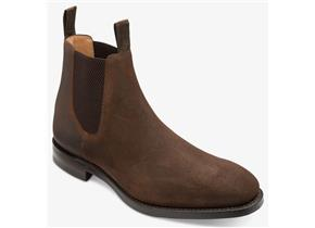 Loake Boots - Chatsworth Waxed Suede Brown