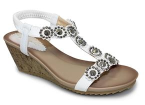 Lunar Sandals - Cally JLH780 White