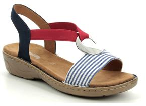 Ara Sandals - Korsica 57264 Navy Stripe