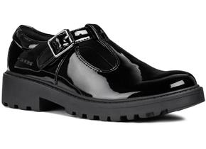 GEOX SHOES - CASEY J8420E BLACK PATENT