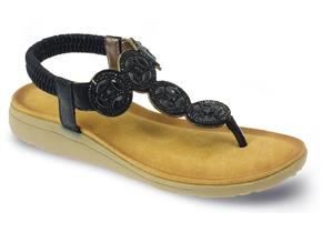 Lunar Sandals - Dulcie JLH795 Black