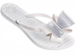 Zaxy Sandals - Link Twin Bow White