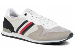 Tommy Hilfiger Shoes - Iconic Material Mix Runner Antique Silver