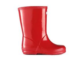 Hunter First Gloss Wellingtons - Original Red