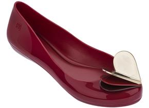 Zaxy Shoes - Pop Heart Flutter Dark Red