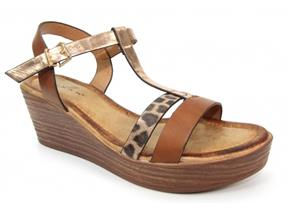 Lunar Sandals - Kempton JLF106 Brown Leopard