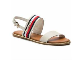 Tommy Hilfiger Sandals - Flat Ribbon Corporate Sandal White