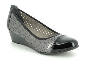 Jana Shoes - 22365-24 Pewter Black