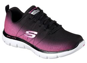 Skechers Shoes - Flex Appeal 2.0 12763 Black Hot Pink