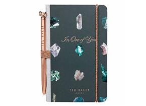 Ted Baker Notebook and Pen - 944 Linear Gem
