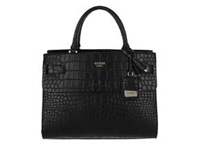 Guess Bags - Cate Satchel Black Croc
