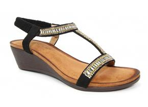 Lunar Sandals - Tabitha JLH064 Black