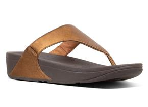 FitFlop™ Sandals - Lulu™ Leather Bronze