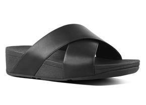 FitFlop Sandals - Lulu™ Cross Slide Black