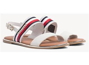Tommy Hilfiger Sandals - Flat Ribbon Corporate White