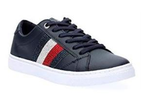 Tommy Hilfiger Shoes - Crystal Leather Casual Sneaker Navy