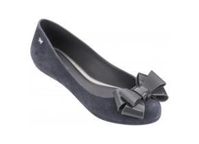 Zaxy Shoes - Pop Flock Bow Luxe Grey