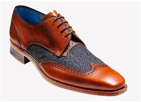 Barker Shoes - Jackson Cedar/Blue Tweed