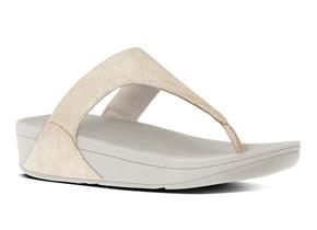 FitFlop™ Sandals - Shimmy™Suede Pale Gold