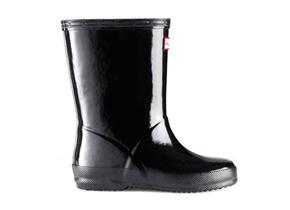 Hunter First Gloss Wellingtons - Original Black