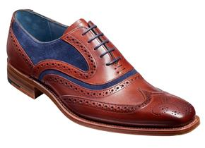 Barker Shoes - McClean Rosewood/Navy Suede