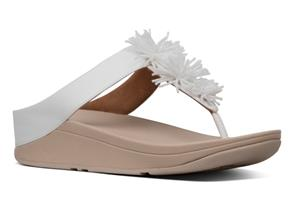 FitFlop™ Sandals - Fino™ Bead Pompom Urban White