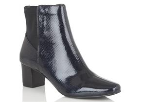 Lotus Boots - Swallow Navy Patent