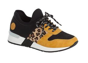 Rieker Shoes - N7671 Black Yellow