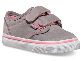 Vans Shoes - Atwood Infant Velcro Grey Pink