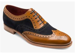 Loake Shoes - Thompson Navy Suede