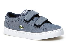 Lacoste Trainers - Straightset Canvas Infant Navy