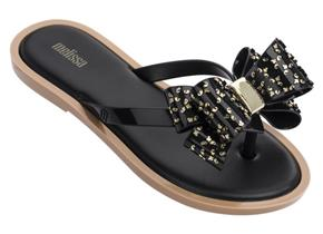 Melissa Sandals - Flip Flop Luxe Bow Black
