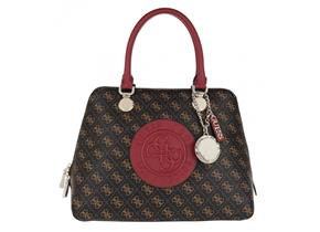 Guess Bags - Aline Dome Satchel Brown