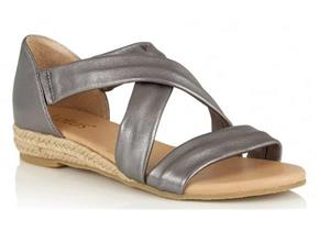 Lotus Sandals - Arielle Pewter