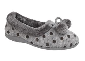 Sleepers Slippers -  Marge LS965 Grey
