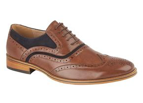 Pettits Shoes - Goor M499 Brown/Navy