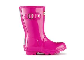 Hunter Childrens Gloss Original Wellies - Pink