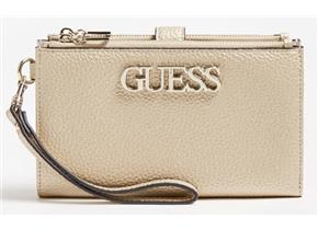 Guess Purses - Uptown Chic Slg Double Zip Organiser Gold