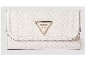 Guess Purses - Lyra SLG Pocket Trifold Beige
