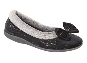 Sleepers Slippers - Bessie LS310 Black