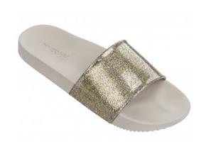 Zaxy Sandals - Snap Glitter Slide Gold