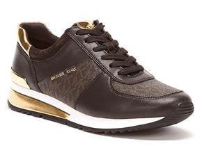 Michael Kors Shoes - Allie Wrap Trainers Brown