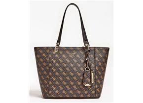 Guess Bags - Kamryn Tote Brown Logo